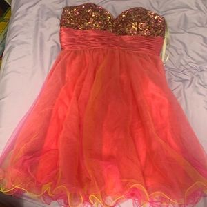 Sparklingly Strapless Party Dress